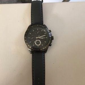 Men's express watch in dark gray